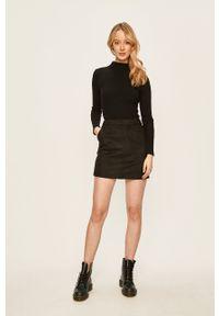 Vero Moda - Spódnica. Okazja: na co dzień. Kolor: czarny. Materiał: dzianina. Wzór: gładki. Styl: casual