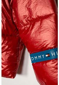 Czerwona kurtka TOMMY HILFIGER casualowa, na co dzień, z kapturem