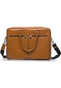 Brązowa torba na laptopa Solier