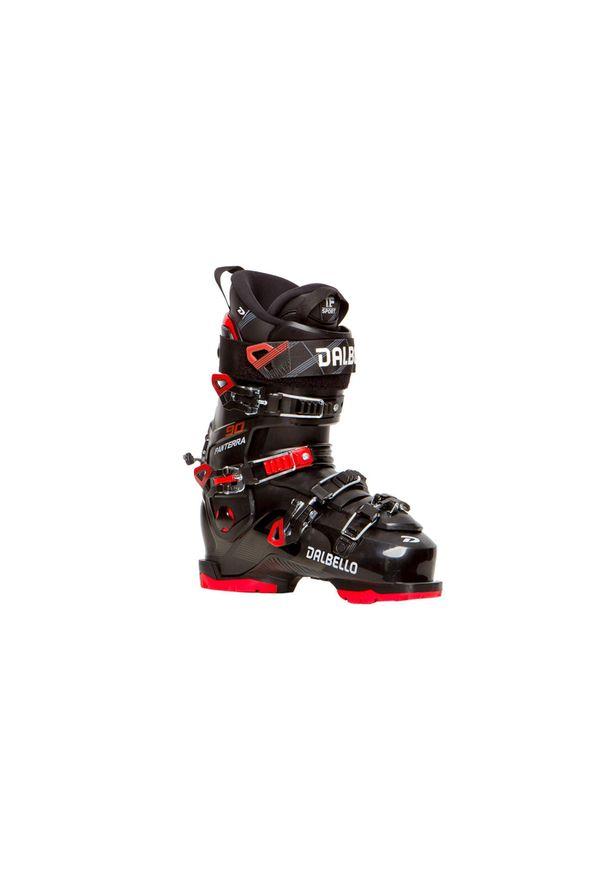 Dalbello - Buty narciarskie Panterra 90. Zapięcie: klamry. Kolor: czarny, wielokolorowy, czerwony. Szerokość cholewki: normalna. Sport: narciarstwo