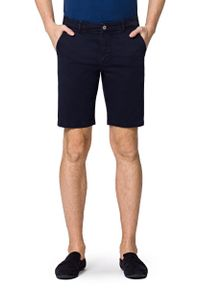 Lancerto - Spodenki C.Granatowe Mexico. Kolor: niebieski. Materiał: len, materiał, bawełna, elastan. Długość: krótkie. Sezon: lato