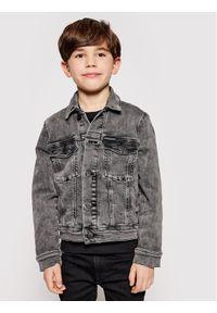 Calvin Klein Jeans Kurtka jeansowa Trucker IB0IB00723 Szary Regular Fit. Kolor: szary