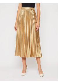 TwinSet Spódnica plisowana 202TT2196 Złoty Regular Fit. Kolor: złoty