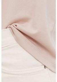 Różowa bluzka Answear Lab na urodziny, gładkie, wakacyjna