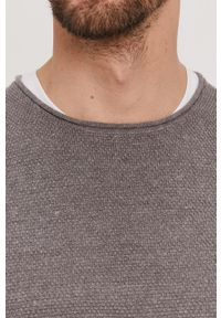 Selected - Sweter. Okazja: na co dzień. Kolor: szary. Materiał: dzianina. Styl: casual