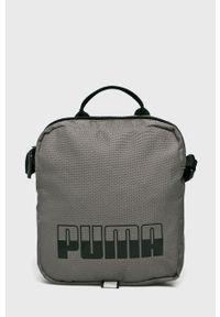 Szara torba podróżna Puma casualowa, z nadrukiem