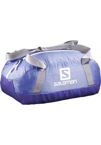 Niebieska torba sportowa salomon w paski