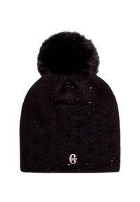 Czarna czapka Conte of Florence z aplikacjami