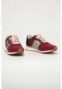 Czerwone sneakersy Jack & Jones z cholewką, na sznurówki