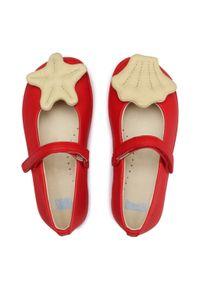 Czerwone baleriny Camper klasyczne, z cholewką