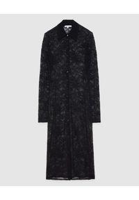 Patrizia Pepe - PATRIZIA PEPE - Czarna sukienka szmizjerka z koronki. Kolor: czarny. Materiał: koronka. Długość rękawa: długi rękaw. Wzór: koronka. Typ sukienki: szmizjerki. Długość: midi
