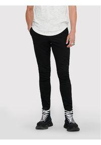 Only & Sons - ONLY & SONS Spodnie materiałowe Cam 22016775 Czarny Regular Fit. Kolor: czarny. Materiał: materiał