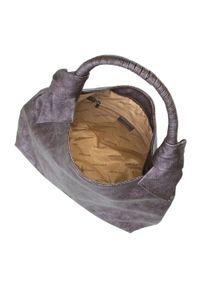 Brązowa torebka worek Wittchen na ramię, casualowa