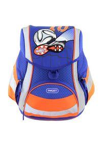 Niebieski plecak Goal w kolorowe wzory