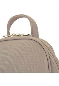 Wittchen - Damski plecak o zaokrąglonych liniach. Kolor: beżowy. Materiał: skóra ekologiczna. Wzór: gładki. Styl: elegancki