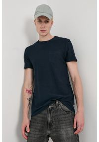 Tom Tailor - T-shirt bawełniany. Okazja: na co dzień. Kolor: niebieski. Materiał: bawełna. Wzór: gładki. Styl: casual