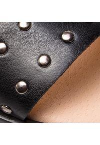 Czarne sandały Baldaccini na co dzień, z aplikacjami