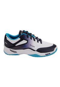 ALLSIX - Buty do siatkówki damskie Allsix V500. Kolor: niebieski, wielokolorowy, turkusowy, biały. Materiał: kauczuk, materiał. Sport: siatkówka