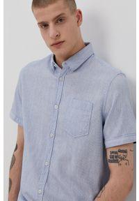 Tom Tailor - Koszula bawełniana. Typ kołnierza: kołnierzyk klasyczny. Kolor: niebieski. Materiał: bawełna. Styl: klasyczny