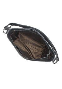 Czarna torebka worek Wittchen skórzana, z aplikacjami