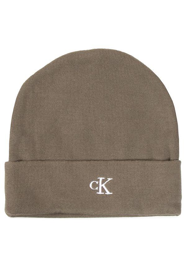 Zielona czapka zimowa Calvin Klein Jeans