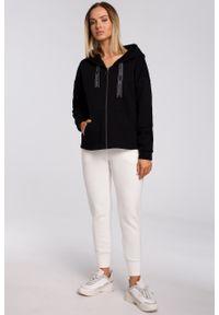 e-margeritka - Bluza bawełniana z kapturem oversize czarna - l. Typ kołnierza: kaptur. Kolor: czarny. Materiał: bawełna. Długość: krótkie