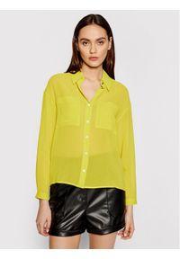 Patrizia Pepe Koszula 2C1250/A3ZQ-Y400 Zielony Regular Fit. Kolor: zielony