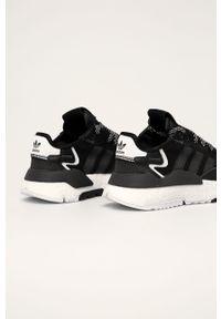 Czarne buty sportowe adidas Originals z cholewką, na sznurówki