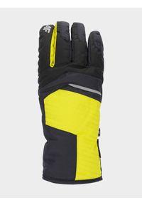 4f - Rękawice narciarskie męskie. Kolor: szary. Materiał: syntetyk, materiał. Technologia: Thinsulate. Sport: narciarstwo