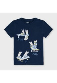 Mayoral T-Shirt 3043 Granatowy Regular Fit. Kolor: niebieski