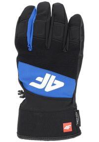 4f - Rękawice narciarskie męskie REM250 - kobalt. Kolor: niebieski. Materiał: syntetyk. Technologia: Thinsulate. Sezon: zima. Sport: narciarstwo