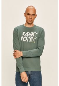 Bluza nierozpinana Jack & Jones z okrągłym kołnierzem, z nadrukiem