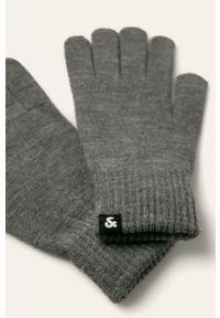 Szare rękawiczki Jack & Jones