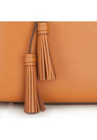 Wittchen - Torebka damska. Kolor: brązowy. Dodatki: z frędzlami. Materiał: skórzane. Styl: elegancki. Rodzaj torebki: na ramię #4