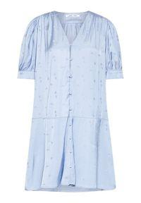 Samsoe & Samsoe - Samsøe Samsøe Sukienka koszulowa Jetta F21200112 Niebieski Loose Fit. Kolor: niebieski. Typ sukienki: koszulowe #5