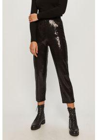 Czarne spodnie materiałowe Karl Lagerfeld klasyczne, z podwyższonym stanem