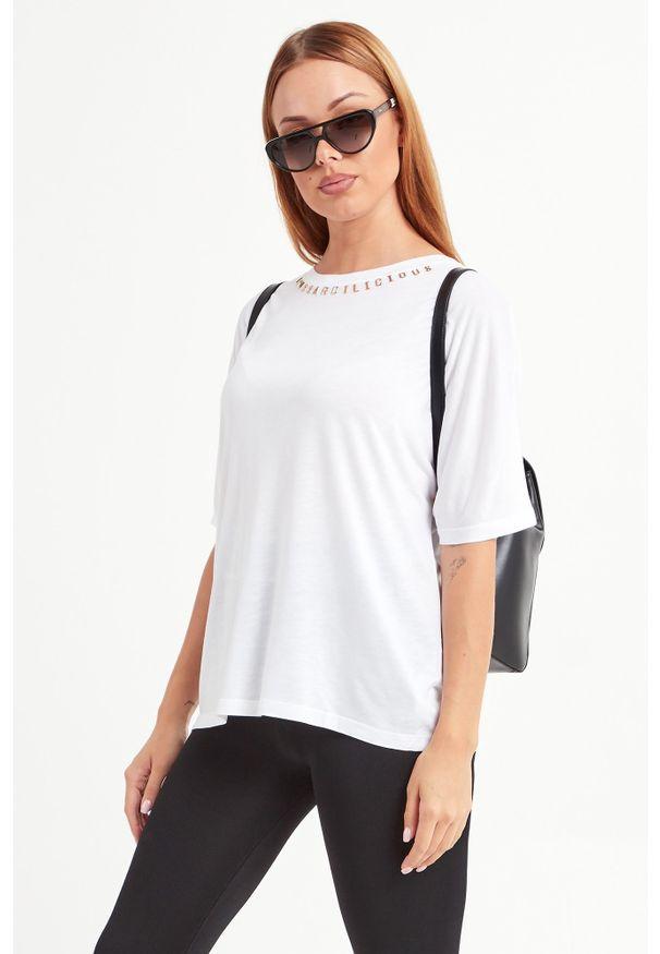 T-shirt Trussardi Jeans casualowy, w kolorowe wzory