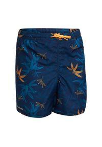 OLAIAN - Spodenki Surfing Bs 100 Bambou Dla Dzieci. Kolor: niebieski. Materiał: materiał, poliester. Długość: krótkie