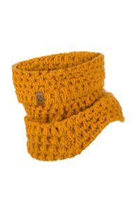 BRODRENE - Komin zimowy dopasowany Brodrene K6 żółty. Okazja: na co dzień. Kolor: żółty. Materiał: materiał. Sezon: zima. Styl: casual