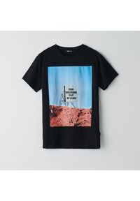 T-shirt Cropp z nadrukiem