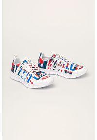Białe buty sportowe Desigual Sport z cholewką, z okrągłym noskiem