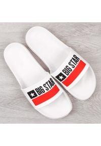 Big-Star - Klapki męskie gumowe plażowe białe Big Star GG174938. Okazja: na plażę. Kolor: biały. Materiał: tworzywo sztuczne, guma