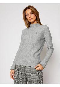 Szary sweter klasyczny Patrizia Pepe