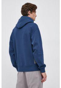 G-Star RAW - G-Star Raw - Bluza. Kolor: niebieski. Materiał: dzianina, materiał. Wzór: gładki #5