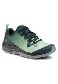 Zielone buty trekkingowe salomon na co dzień, casualowe, z cholewką