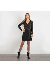 """Pinko Sukienka """"Iacco"""". Typ kołnierza: dekolt w kształcie V. Materiał: tkanina. Wzór: aplikacja. Typ sukienki: plisowane, kopertowe, dopasowane. Długość: mini"""