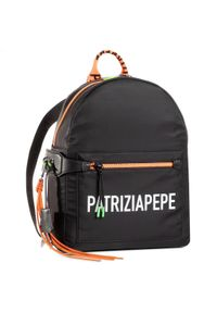 Czarny plecak Patrizia Pepe sportowy