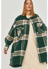 Zielony płaszcz Answear Lab wakacyjny, bez kaptura