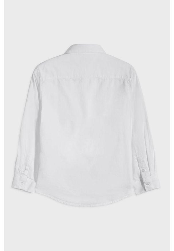 Biała koszula Mayoral na co dzień, z długim rękawem