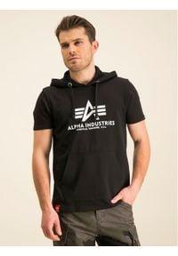 Alpha Industries Bluza Basic T Hooded 126507 Czarny Regular Fit. Kolor: czarny